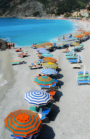 The beaches in Liguria